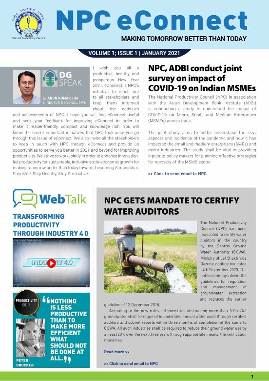 Conduct water audit  with  @NPC_INDIA_GOV  . Also Choose & Learn from certified 194 E Learning 345 Video Talk Daily WEBINAR and Udyog Manthan by National Productivity Council  at   @arunkjhaies