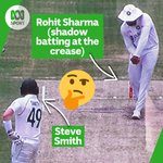 Interesting moment caught on the telecast earlier...  Steve Smith watching on. 😂  #AUSvIND