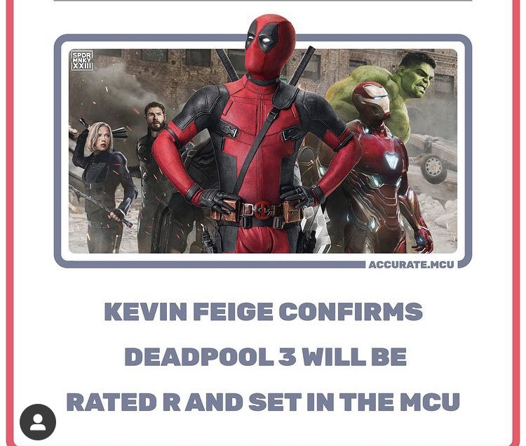 YESSS 🙌🏼 I'm experiencing information overload #Deadpool3 #mcu #Phase4 @VancityReynolds