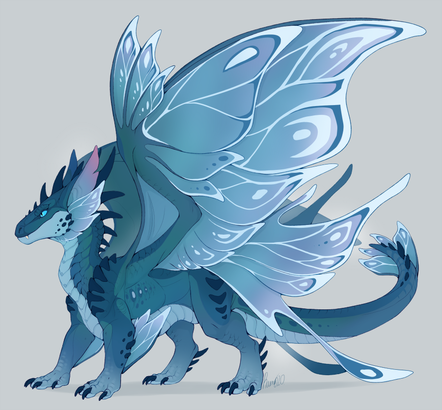 Another one of those base adopts, this ones one of the Ardenweald-inspired fairy dragons 🦋 55$, PP, DM if interested~