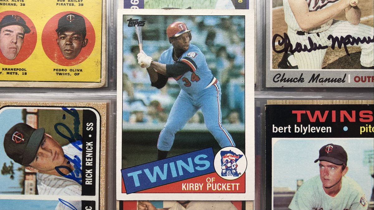 Retweet & follow me for a chance to win this 1985 @Topps Kirby Puckett rookie card.  Tell me your favorite stat, fun fact, or cool story about Kirby. #MNTwins