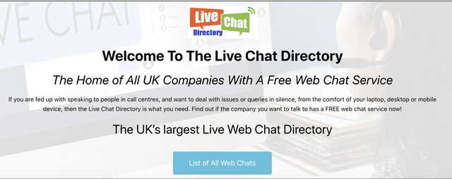 Side project showcase - check out Live Chat Directory UK - The home of all UK companies with a free web chat -  @sideprojectors #sideproject #makers #entrepreneur #live-chat-directory-uk