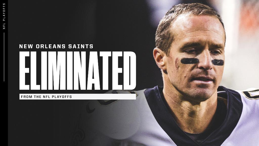 The Saints have been eliminated from the NFL playoffs. Their third straight home playoff loss. https://t.co/IzxytCCuUd
