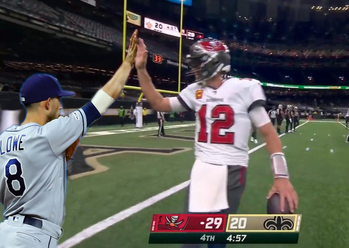 We'd never leave you hanging, @TomBrady! #GoBucs