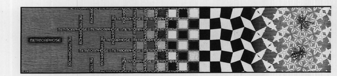 Metamorphosis III excerpt 1, 1968  #opart #escher