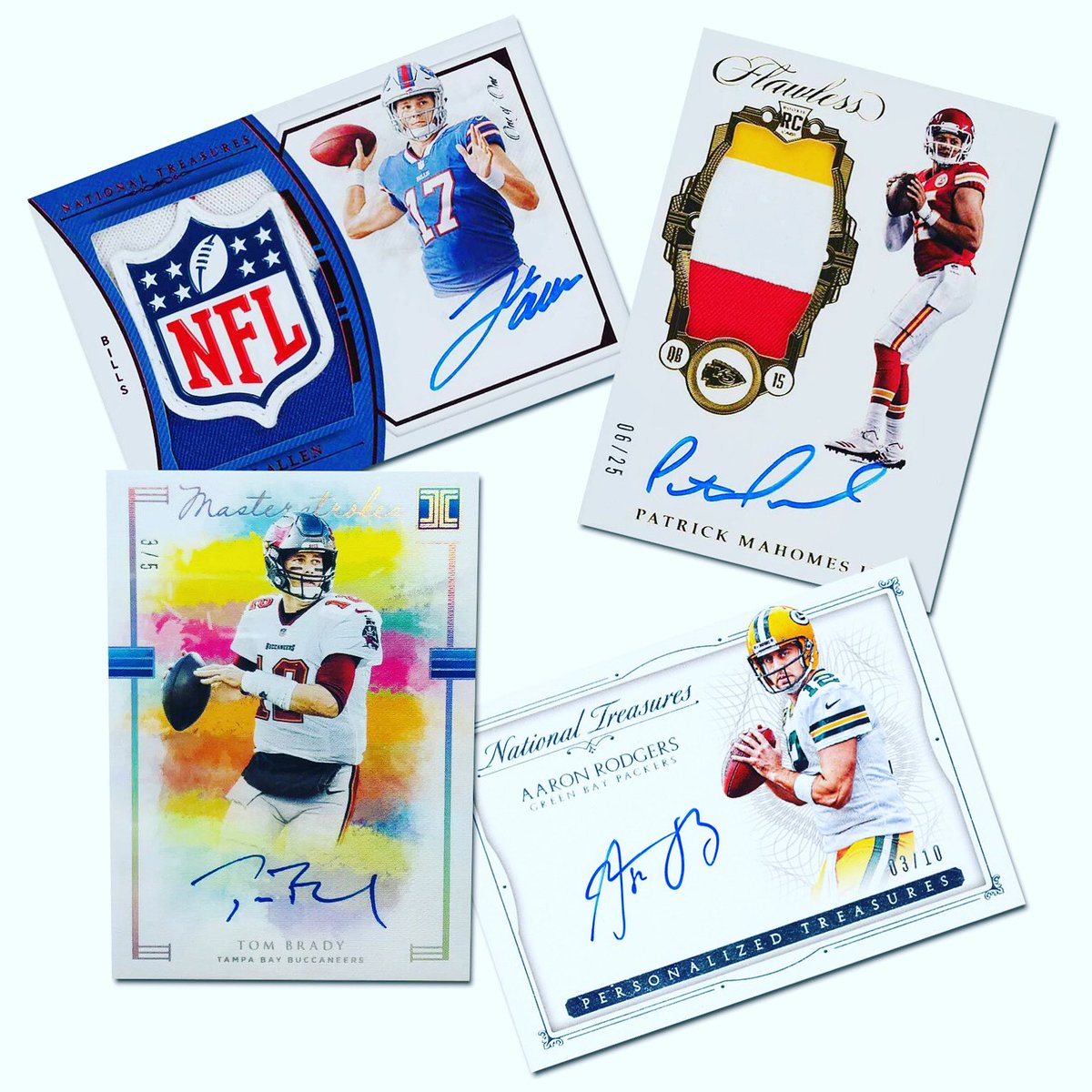 The Final Four is set. Next Sunday can't get here soon enough.  @TomBrady & the @Buccaneers vs. @AaronRodgers12 & the @packers.  @JoshAllenQB & the @BuffaloBills vs. @PatrickMahomes & the @Chiefs.  #WhoDoYouCollect  #GoBucs | #GoPackGo  #BillsMafia | #CHIEFSKINGDOM
