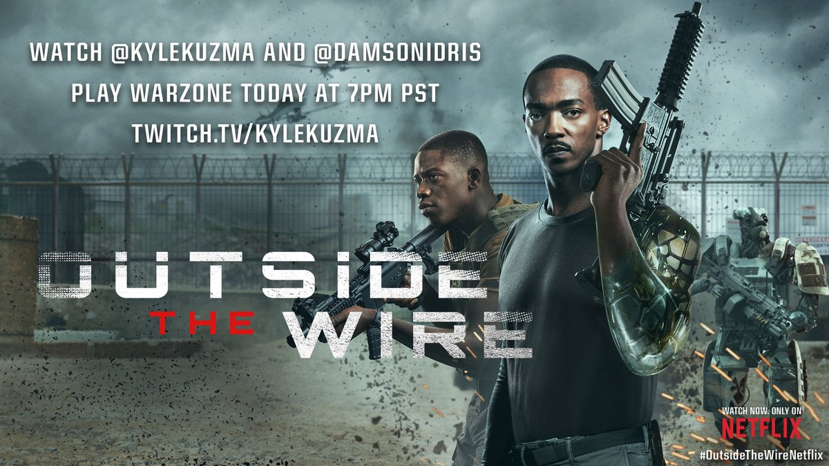 It's been a week. Go watch @kylekuzma and @DamsonIdris playing Warzone. You've earned it. >>>>>