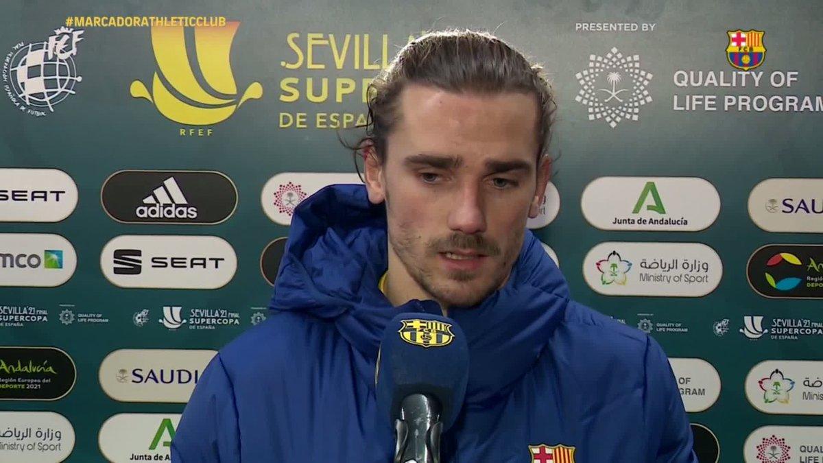 📣  El análisis de @AntoGriezmann tras la Supercopa en Sevilla