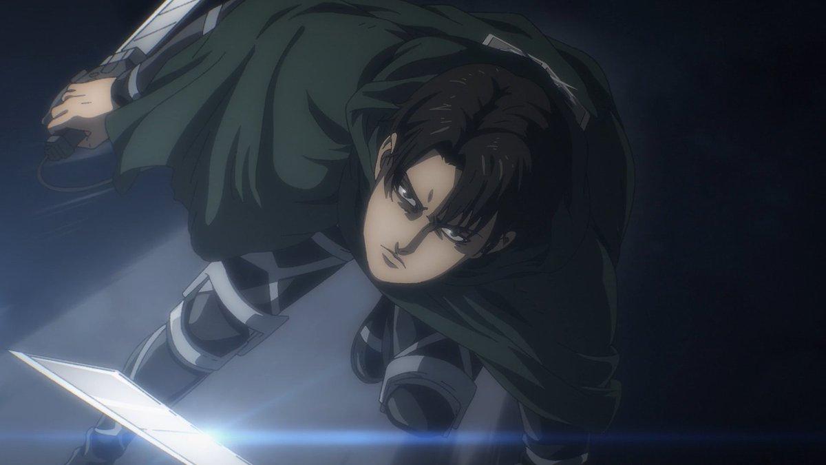 Y no puedo dejar pasar la aparicion del Dios Levi, joder que entrada. Solo falta que aparezca Armin y sere completamente feliz. #ShingekiNoKyojin  #AttackonTitanFinalSeason