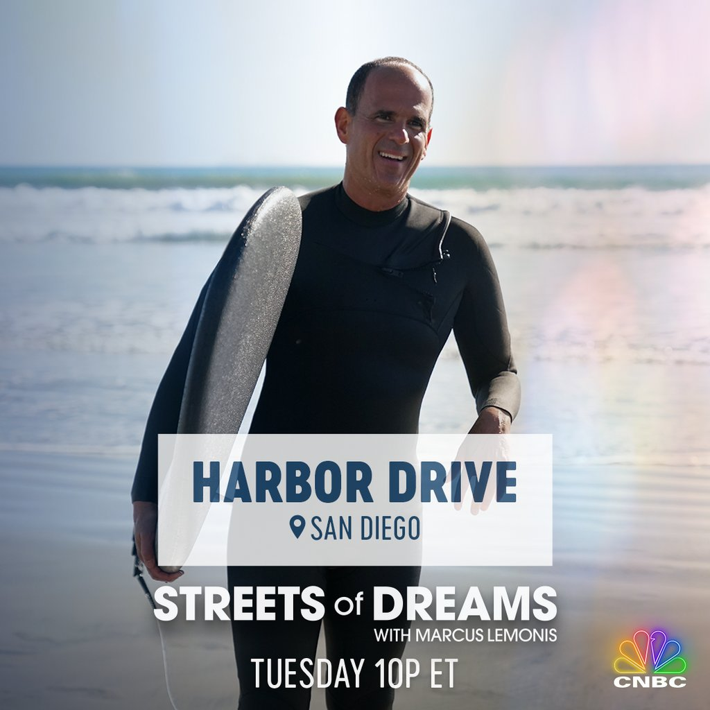We're traveling all the way to the west coast for this week's episode of #StreetsofDreams with @marcuslemonis!⁠ .⁠ Learn more about the #BlueEconomy of San Diego, CA as we take a stroll down #HarborDrive this TUESDAY at 10p ET on @CNBCPrimeTV!