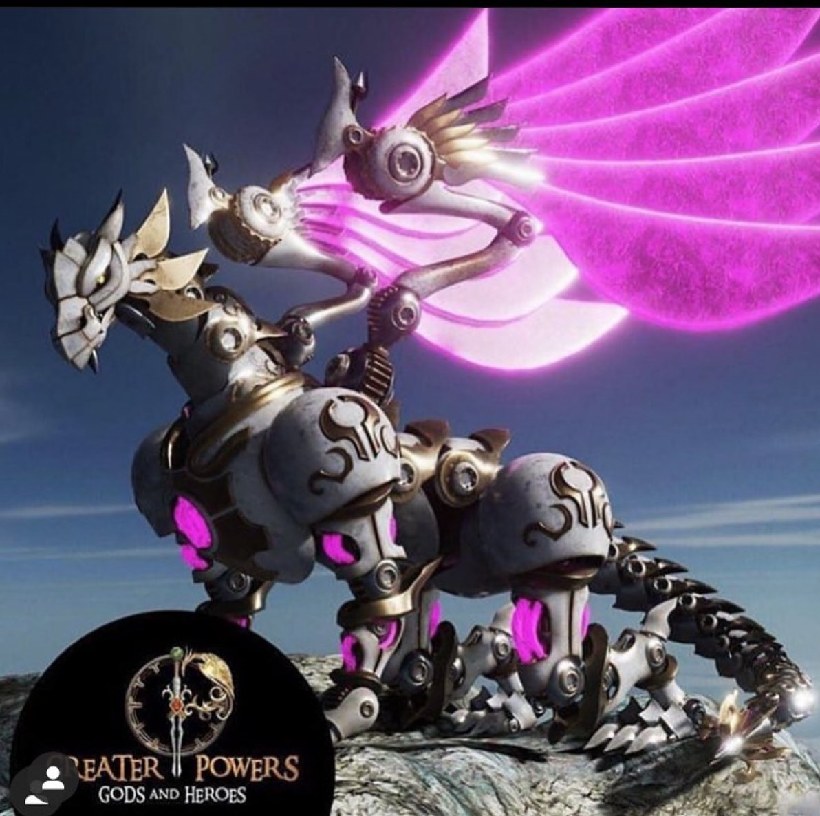 Here we have a Clockwork Dragon. At nearly 200 meters in length, this flying behemoth is the Scholarium's most devastating war machine. #GreaterPowers #IndieGame #Twitch #Steampunk