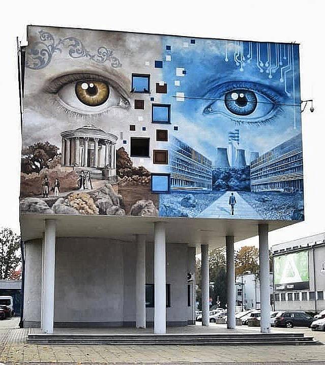 Work by @dawidcelek in Puławy, Poland --- #GlobalStreetArt #StreetArt #PaintedCities