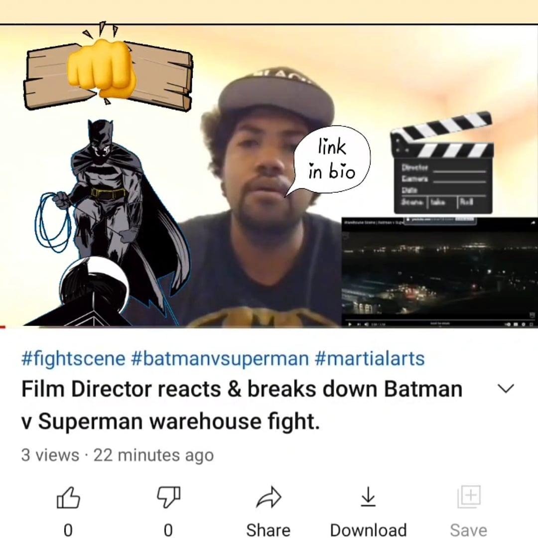 Hey everyone! Check out my first video reaction/fight scene break down. #BatmanvSuperman #Batman #Superman #superman #martialarts #fight #Filmmaking #filmmaker #reaction #breakdown #fightscenebreakdown #fightscene #reaction #YouTube #YouTubeBlack #YouTubeBlackVoices #webangin https://t.co/9PZf7qNL0h