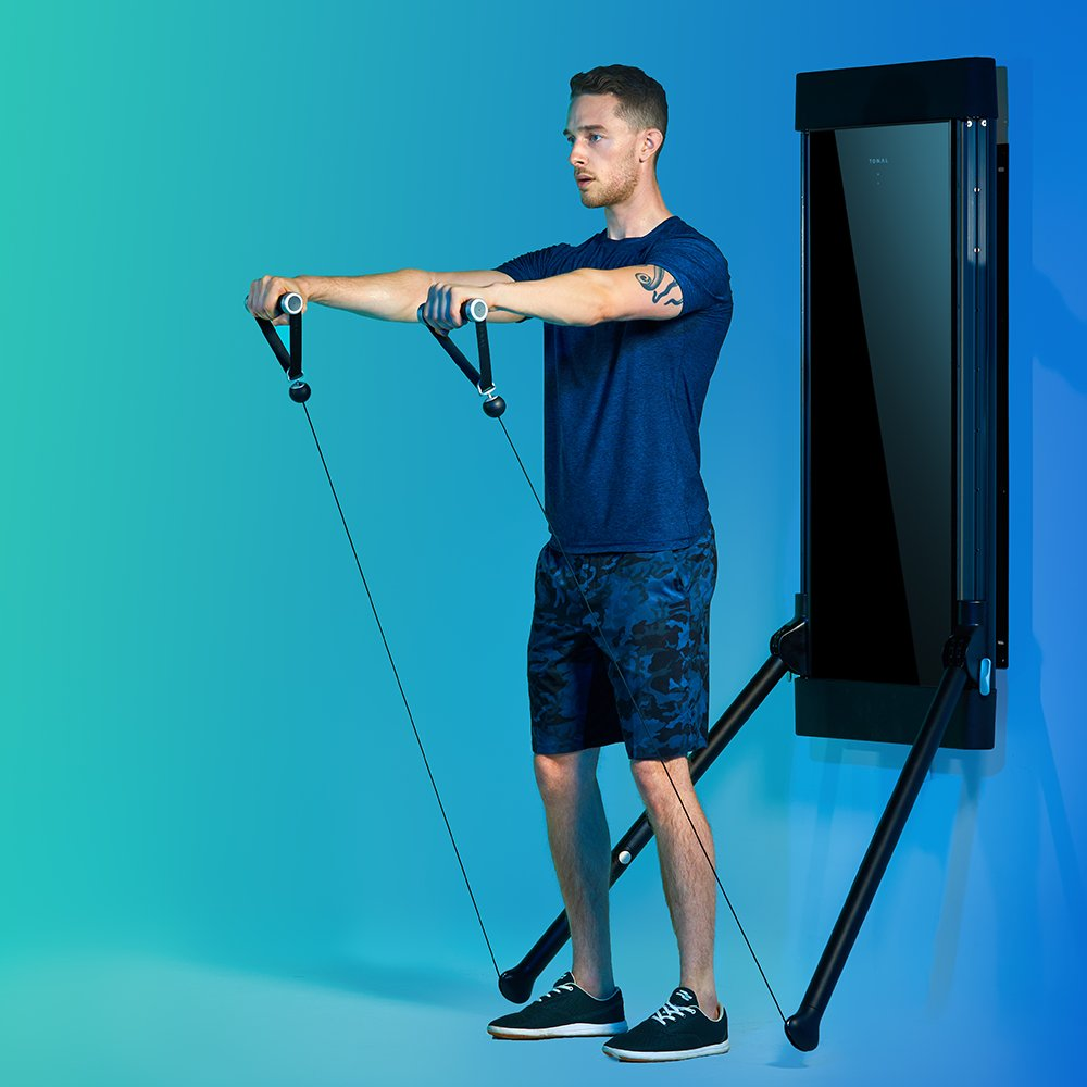New to strength training? Tonal learns how much weight you can lift with a full-body Strength Assessment and sets the perfect weights for where you are right now. As you get stronger, Tonal automatically increases the weight exactly when you can handle it.