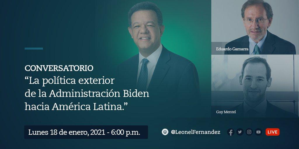 Mañana lunes, a partir de las 6 PM, estaremos conversando junto a los distinguidos @GamarraE y @GuyMentel, sobre la política exterior de la administración Biden hacia América Latina. Les invito a acompañarnos, a través de nuestras plataformas de medios sociales y las de Funglode. https://t.co/P9fO8Q4Aev