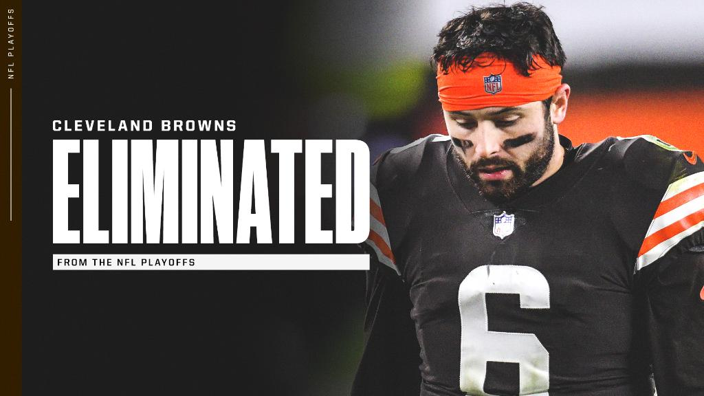 The Browns have been eliminated from the NFL playoffs. https://t.co/wJvFlnszAP