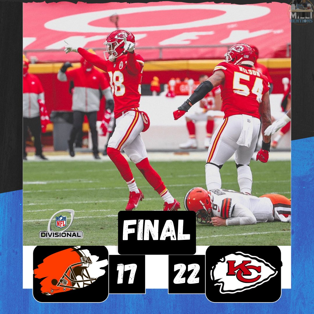 The @chiefs battle through a @PatrickMahomes injury and a late surge from the @clevelandbrowns  as they advance to the conference championship... #nflfreeagency #chiefsfootball #mlb #kcchiefs #patriots #football #nba #espn #kc #nflhighlights #nflseason #nflsunday #chiefskingdom