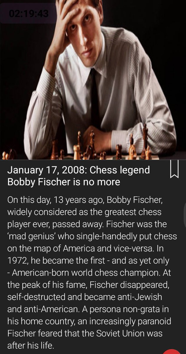 #bobbyfischer #Chess #WorldChessChampion #AmericanGods #MadGenius #greatest #ChessPlayer #chesschamps  I. Q =181  died becoming mad.  #RIP