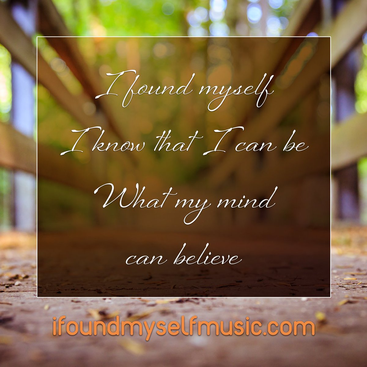 I found myself, I know that I can be What my mind can believe Now life is beautiful and new When I found myself, I found you  Stream / Download / Support :   #bodypositivity #chooseyourself #selfworth #mentalhealth #mentalhealthawareness