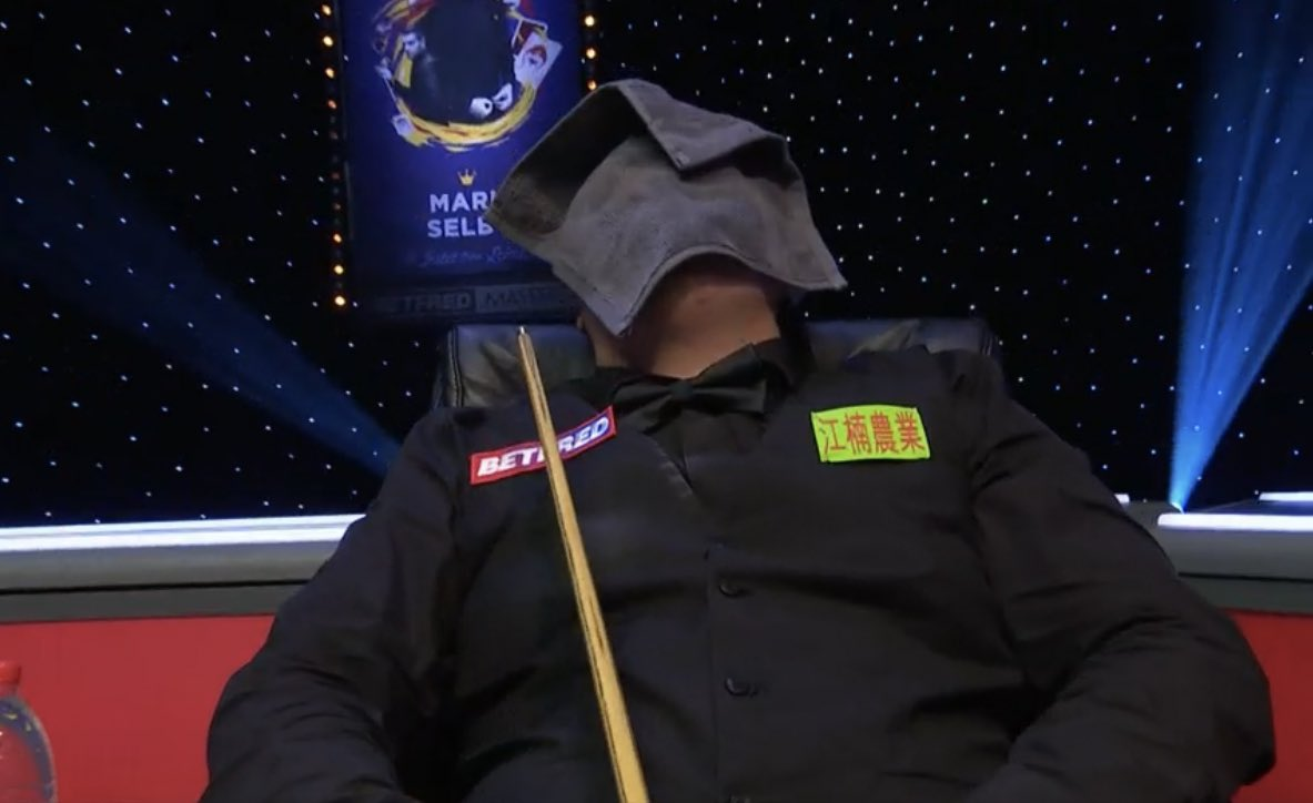 Take it all in, Yan! 😅  What a moment in his career 🏆 #MastersSnooker