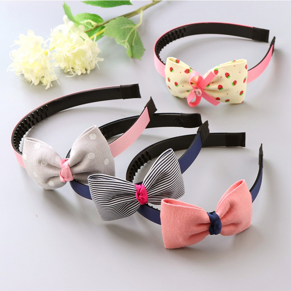 #cool #pink Fashion Plastic Big Bows Headbands