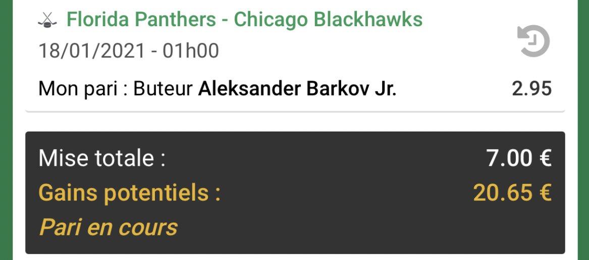 #BkNHL21🏒  Match à 1h   Mise BK 17,5€en jeu  #NHLisBack #Raise🏒