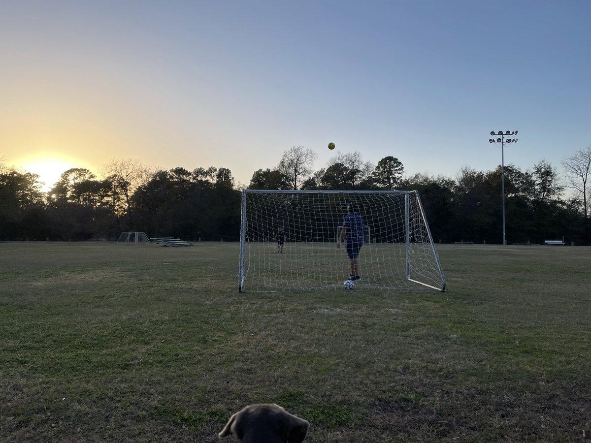 Nice day for soccer #ssah #familytime #phoebesilverlabradorplayssoccer @Alex__Garza_