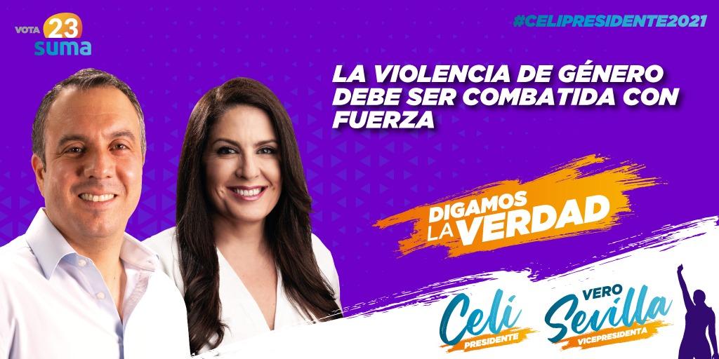 La seguridad no tiene género. Aún así el índice de violencia contra la mujer y los femicidios son un tema de género, que será tratado y combatido con fuerza. #NiUnaMenos #VivaLaMujerEcuatoriana #CeliPresidente2021