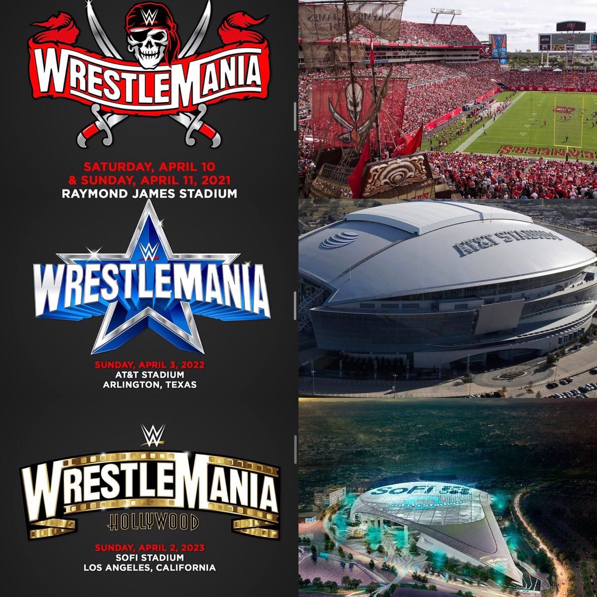3 LIT 🔥 WrestleManias coming soon, next year, and after that!! 🏴‍☠️🤠🤩 #WrestleMania #wweraw #smackdown #wwenxt