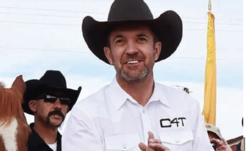 New Mexico county commissioner Cuoy Griffin was arrested in DC today b/c of his role in the Capitol riot. Griffin, who co founded 'Cowboys for Trump', went back to D.C., reportedly armed, & claims he was armed on the 6th. New Mexico's AG is vowing to have an ousted from office.