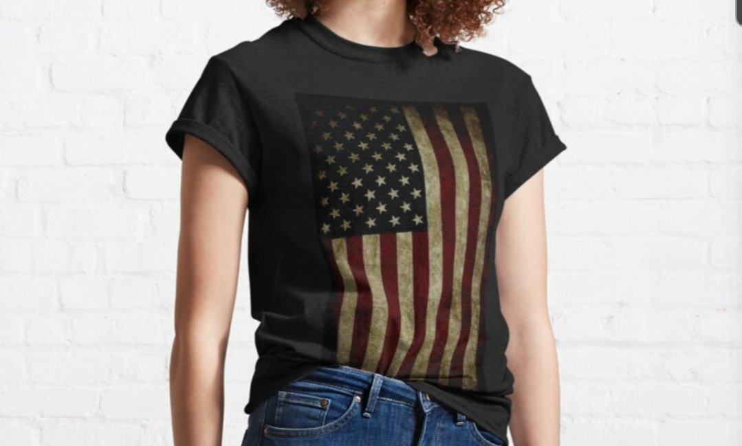 Find our American Flag tee in our store.   Available as a phone case also. Pic and link posted in comments.