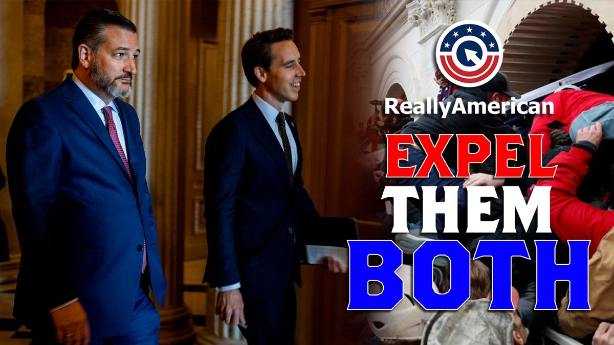 NEW VIDEO📽️: The 14th Amendment is clear. No American engaged in insurrection or rebellion are allowed to hold office. Cruz and Hawley hold the most blame for the insurrection as a result of their dangerous rhetoric and conspiracies.  Retweet if you agree we must #ExpelThemBoth