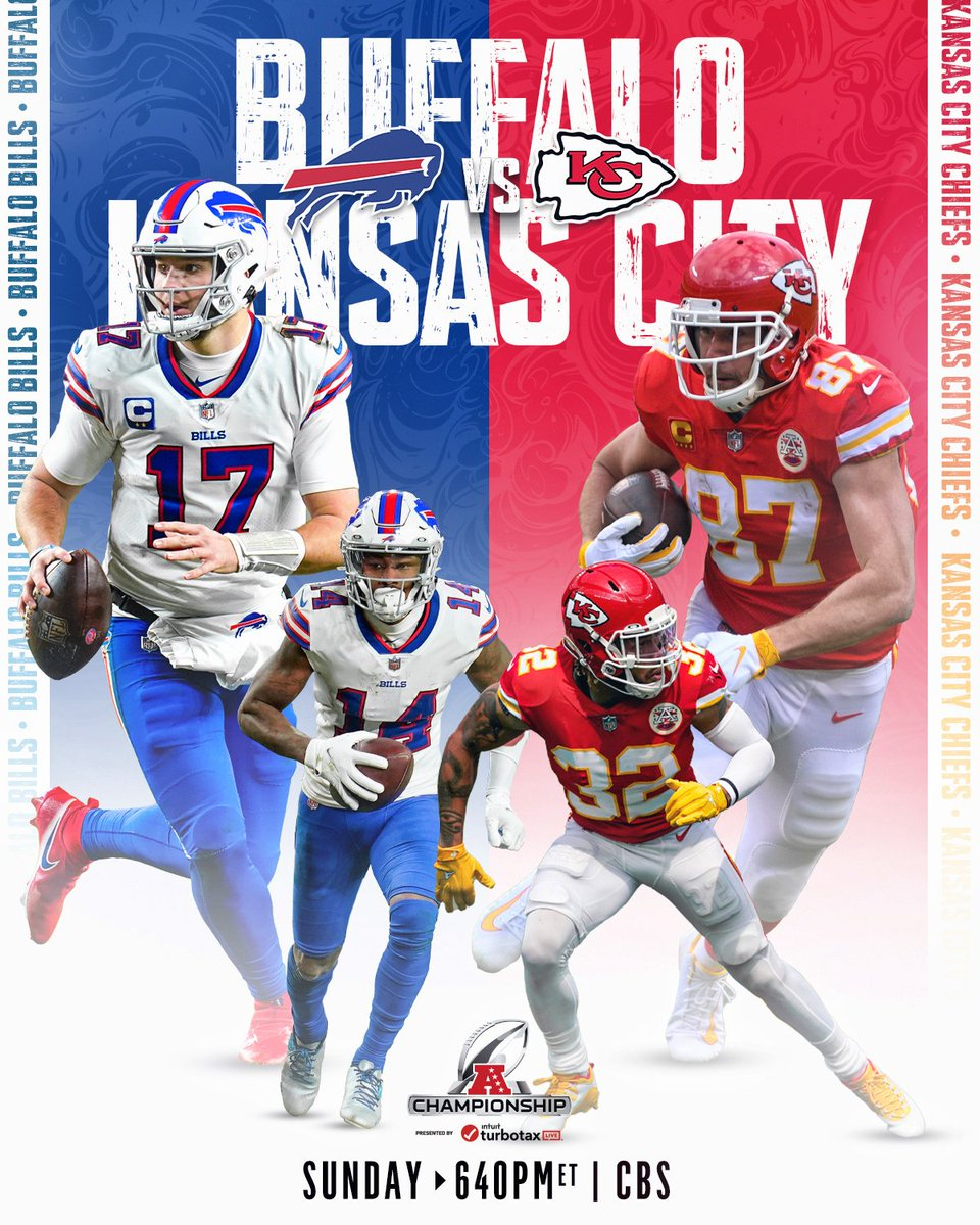 The AFC Championship is set. 🤩 #NFLPlayoffs  #BillsMafia | #RunItBack   📺: #BUFvsKC -- Next Sunday 6:40pm ET on CBS @NFL
