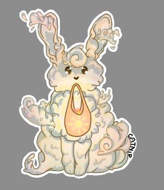 No hay contexto, solo quería dibujar un conejito y jugar con otros pinceles  #digitalart #bunny #conejito #sun #sky #sticker #cute #uwu #adorable