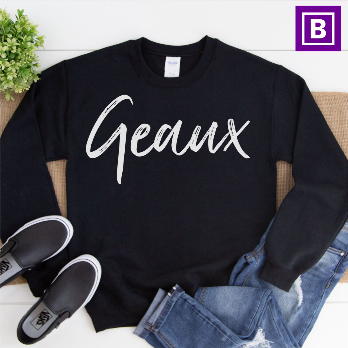 Excited to share this item from my #etsy shop: Geaux Sweatshirt LSU football New Orleans Saints shirt, LSU Tigers, Saints football shirt, Bayou Bengals, Superdome shirt, Geaux Saints  #brees #nola #saints #nfl #whodat #whodatnation