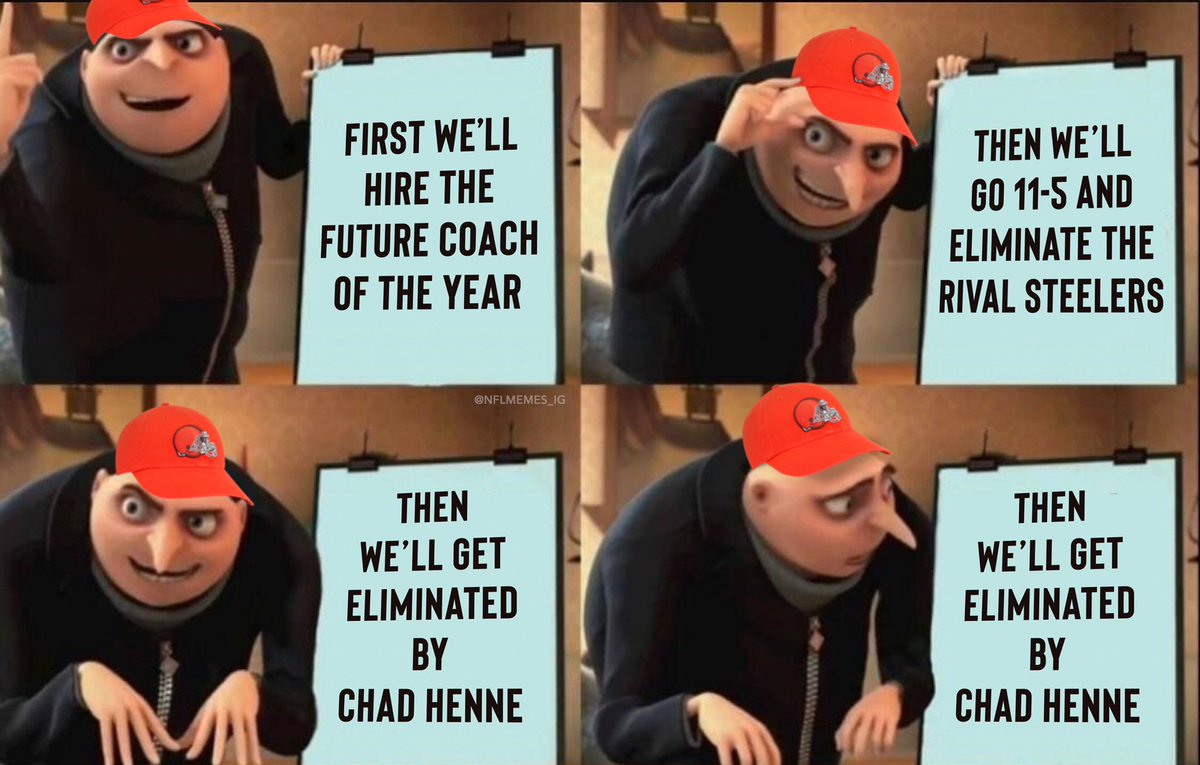 Replying to @NFL_Memes: The Browns season...