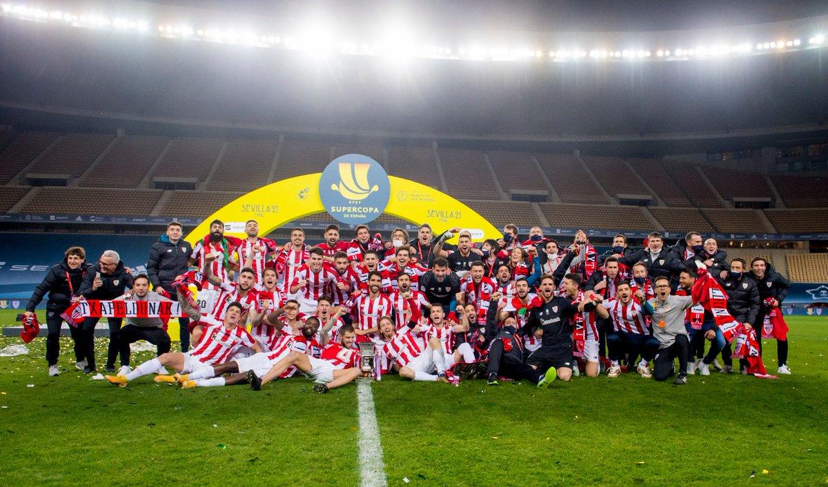 🔴⚪ GABON!!  🏆 𝗧 𝗫 𝗔 𝗣 𝗘 𝗟 𝗗 𝗨 𝗡 𝗔 𝗞 ‼️  ¡¡¡CAMPEONES #Supercopa 2021!!!  #DenonAmetsa 💭 #BiziAmetsa  #AthleticClub 🦁