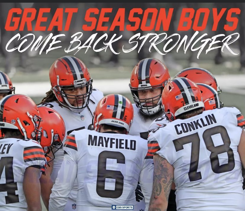 Proud of you @Browns 🧡🤎 See you next season, only seven more months! #Believeland #Browns #ComeBackStronger 💪🏼💪🏾💪🏿