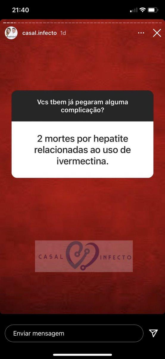 """O perfil do Instagram Casal.Infecto, dos Infectologistas Tassiana e Danilo, perguntou a colegas se já tinham pego complicações do """"tratamento preventivo"""" contra Covid.   Óbitos, abortos etc.👇"""