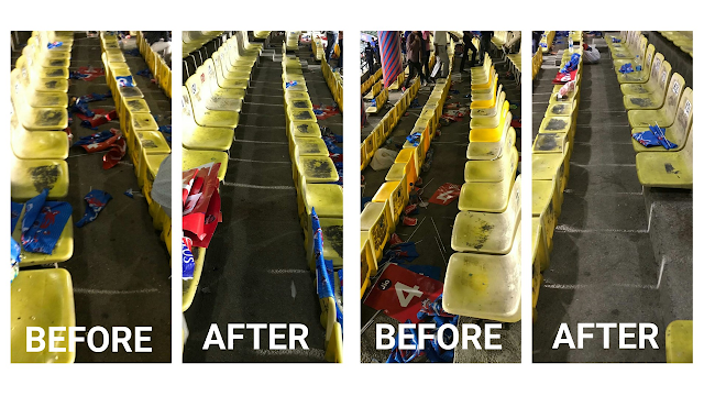 When our volunteer cleaned up after an #IPL match! Read:   #WeMeanToClean #CleanDelhi #SwachhBharat #Volunteer #Volunteering #Shramdaan #Delhi #Cleanup #CleanupDrive #SwachhataHiSeva #StopLittering #WMTCBlog