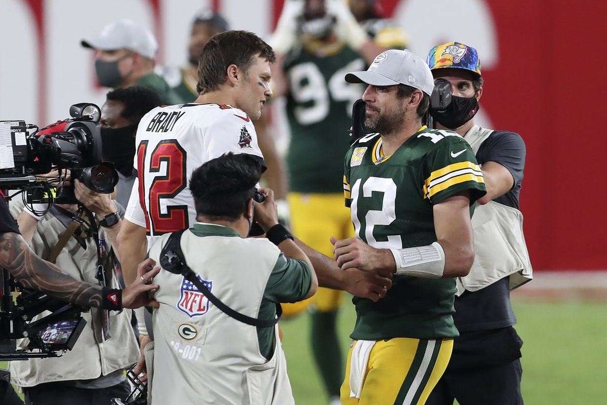 The GOAT Bowl before the Super Bowl 🐐  Tom Brady and Aaron Rodgers will face-off in the playoffs for the first time ever.  Gonna be special. @brgridiron