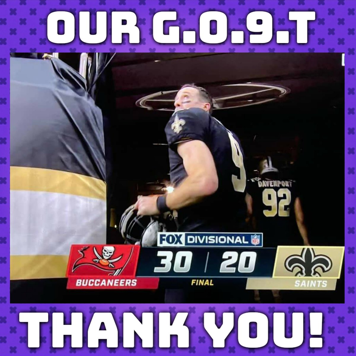 It didn't end the way we wanted but it's been one hell of a ride. We can't thank you enough @drewbrees for helping build an incredible golden era in @Saints history and all the memories that made watching them become so damn enjoyable. #NOLA #NewOrleans #Saints #WhoDat #DrewBrees