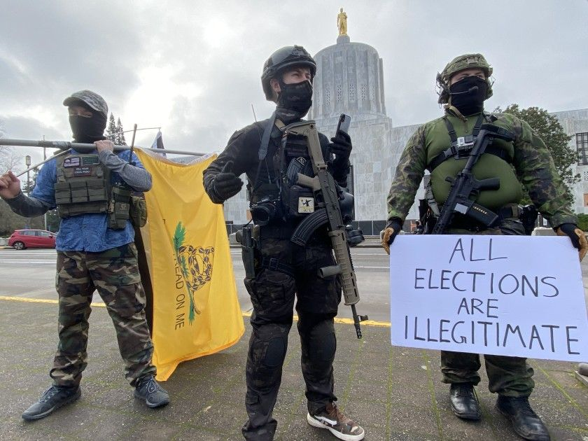 Nationwide protests authorities feared by Trump supporters fail to materialize  Protests by armed right-wing groups erupted at some state capitols, but remained small and peaceful.