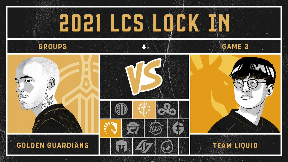 Golden Guardians - Final #LCS Lock In match of the weekend, let's close it out strong 👊  #GGWIN  📺  💬