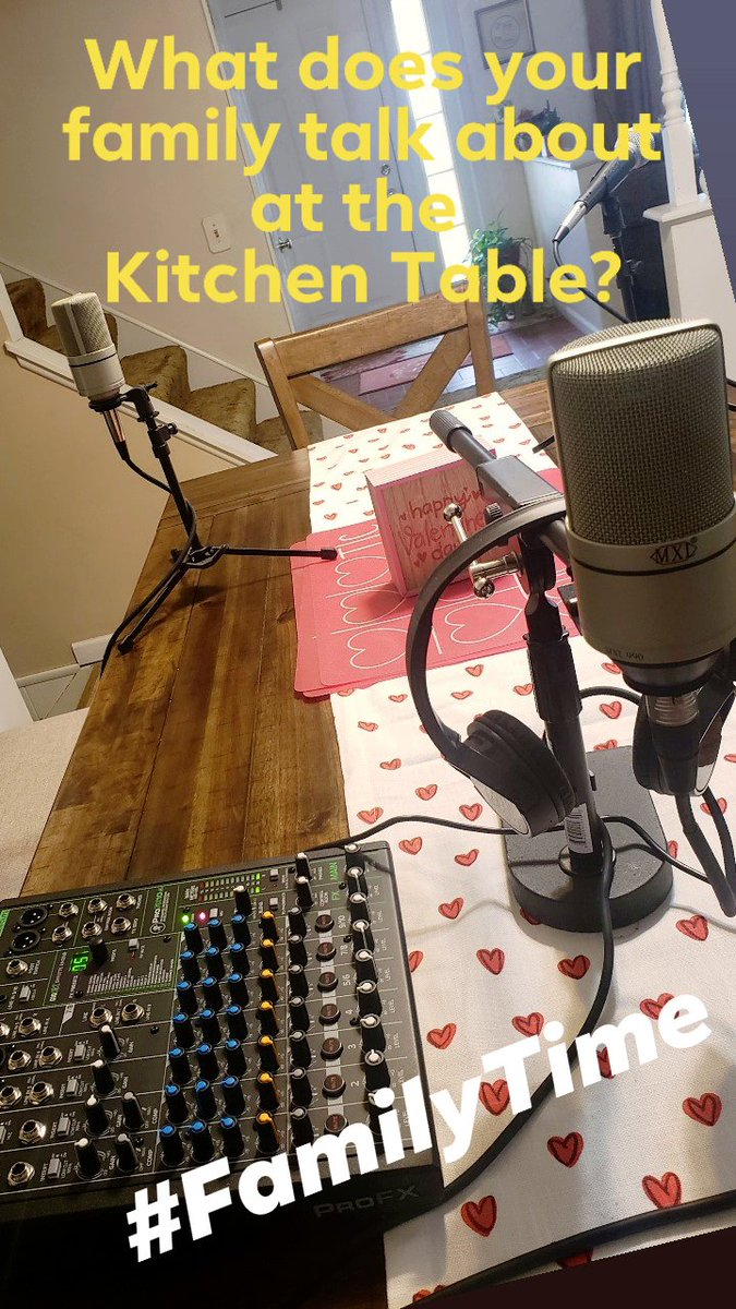 What does your #family talk about at the #kitchentable? #familytime #podcast