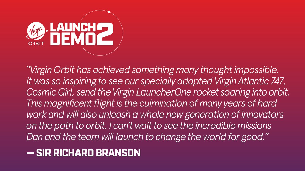 Replying to @Virgin_Orbit: From our founder @RichardBranson.