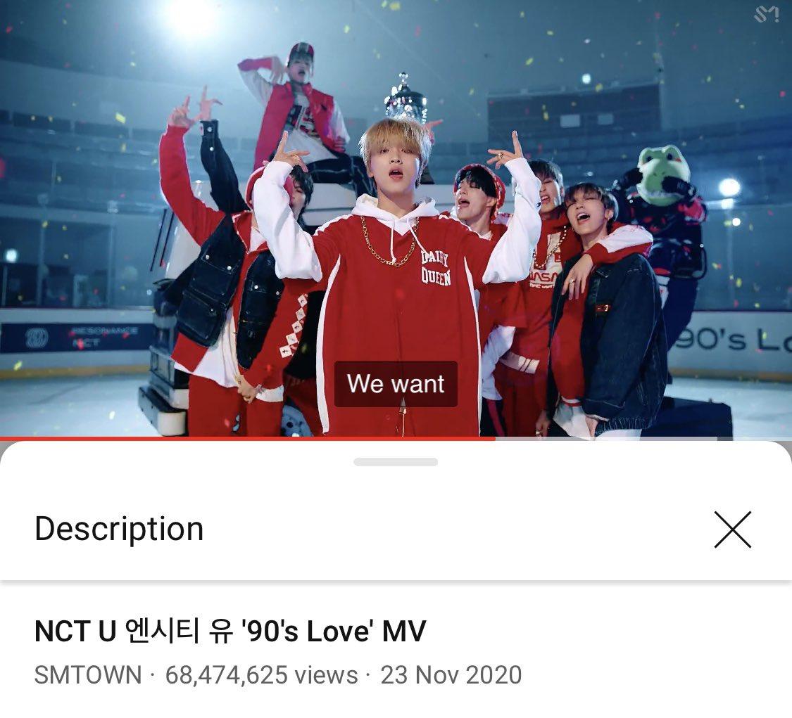 68.4M❤️NCT U 엔시티 유 '90's Love' MV  via @YouTube #NCTU #90sLove #TENChittaphon #เตนล์