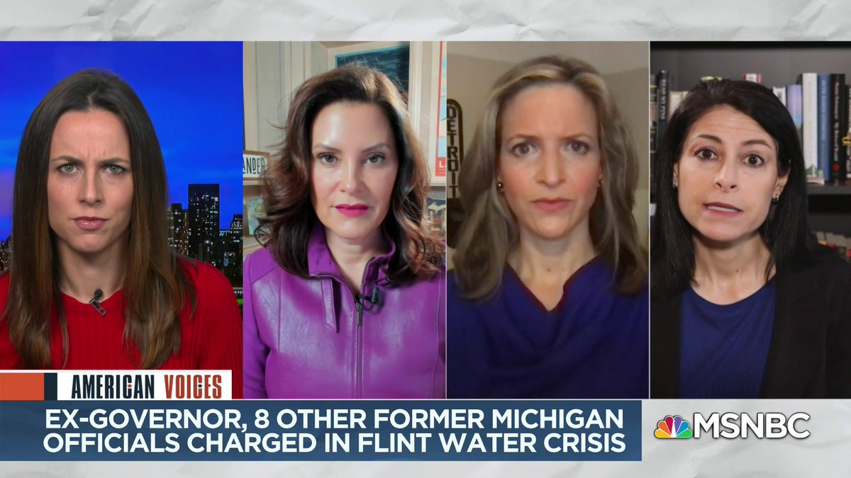 """""""We're never going to be able to make the residents of the city of Flint whole - no matter how much money, no matter how lengthy the prison sentences... all we can do is the best we can to hold people accountable.""""  @dananessel"""