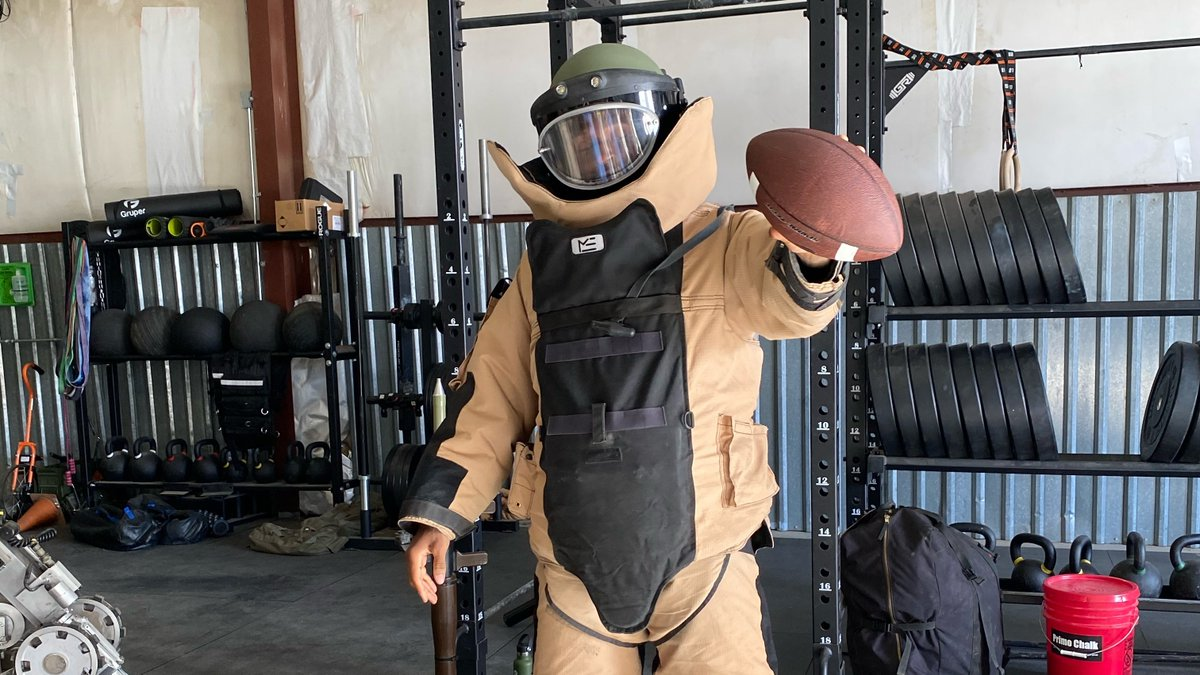 This is me in an 80lb explosion-proof suit. Learned so much from the servicemen and women in the Air Force Reserve.   Learn more at   @Join_AFReserve