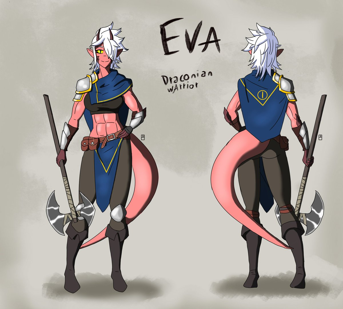 Made Eva RPG version  #drawing #digitaldrawing #digitalart #art #brasil #arte #desenho #digital #artedigital #desenhodigital #concept #characterdesign #character_design #characterart #girl #knight #rpg #medieval #characterdesign #dragon #dragongirl #originalcharacter